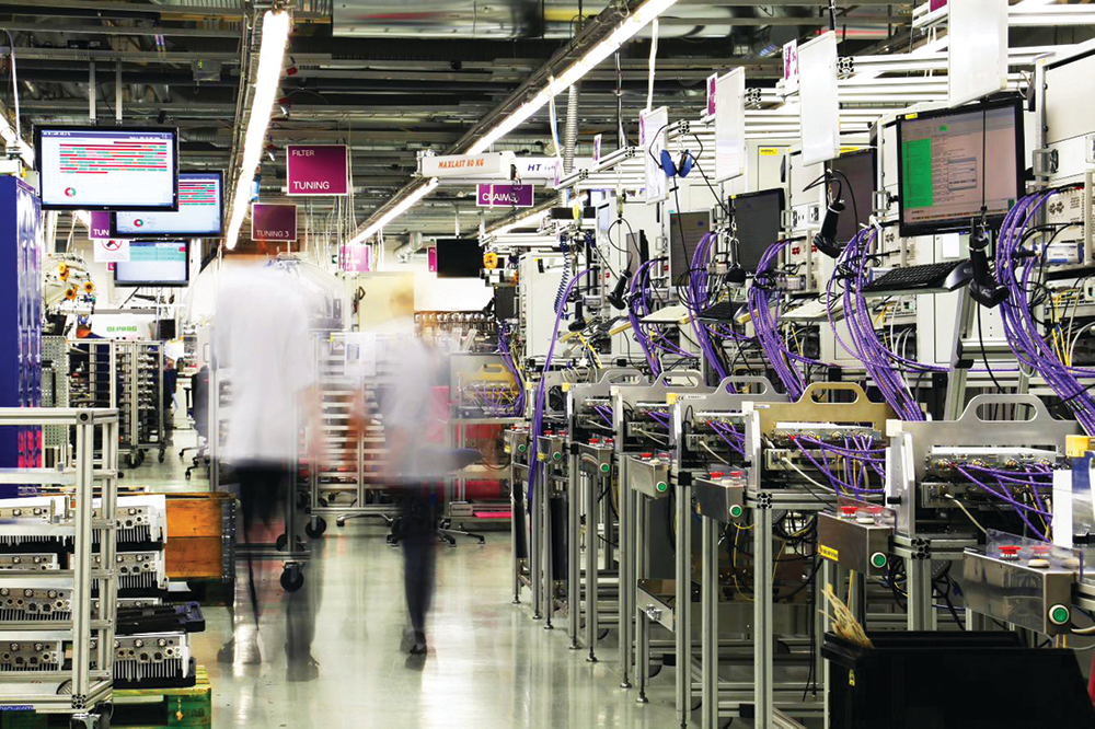 Ericsson's 5G-enabled factory of the future starts today with 4.9G-enabled massive IoT and AR applications. Image courtesy of Ericsson.