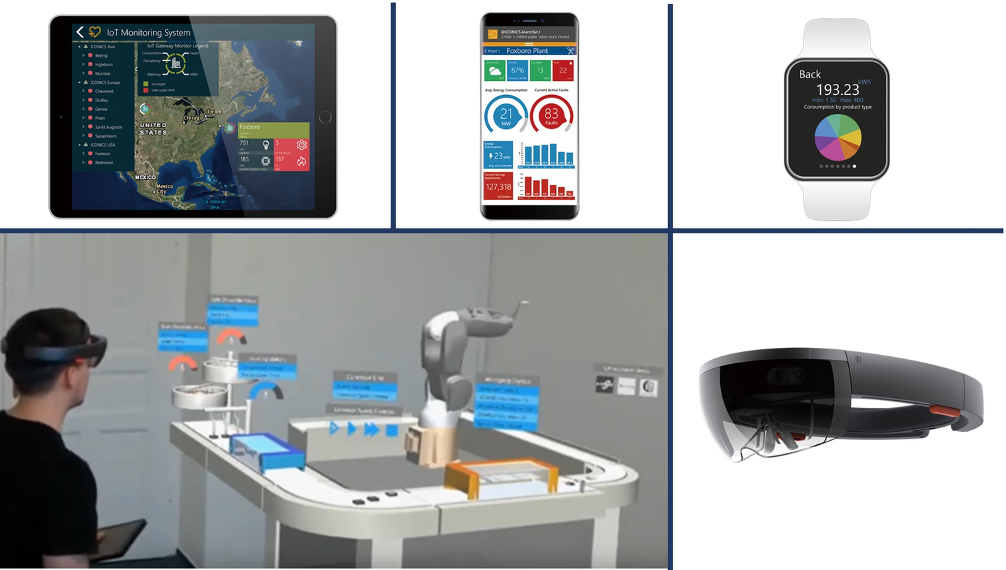 Touchless monitor and control can be achieved with the use of AR devices; apps for mobile devices and smart watches facilitate remote monitoring.