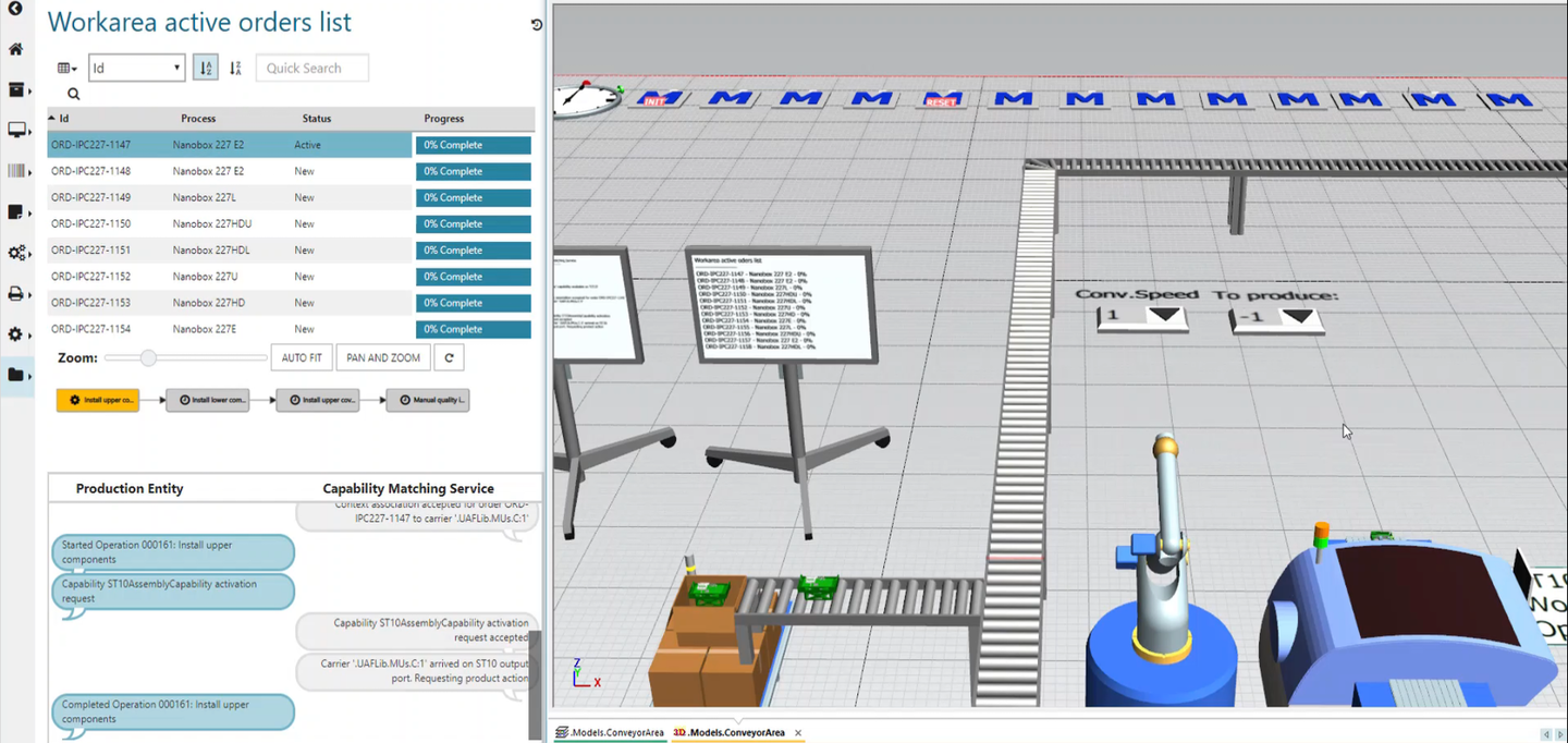 In discrete manufacturing, the bill of process may be published to an execution engine that matches equipment capabilities to each operation and guides the product on its unique journey through the factory. Source: Siemens