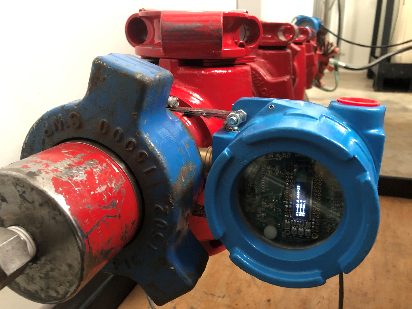 EZ Vision sensors use acoustic data to highlight potential sources of leakage in the system.